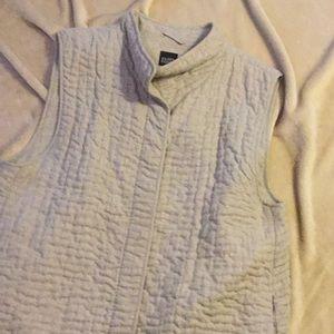 Eileen Fisher sleeveless vest button up XL